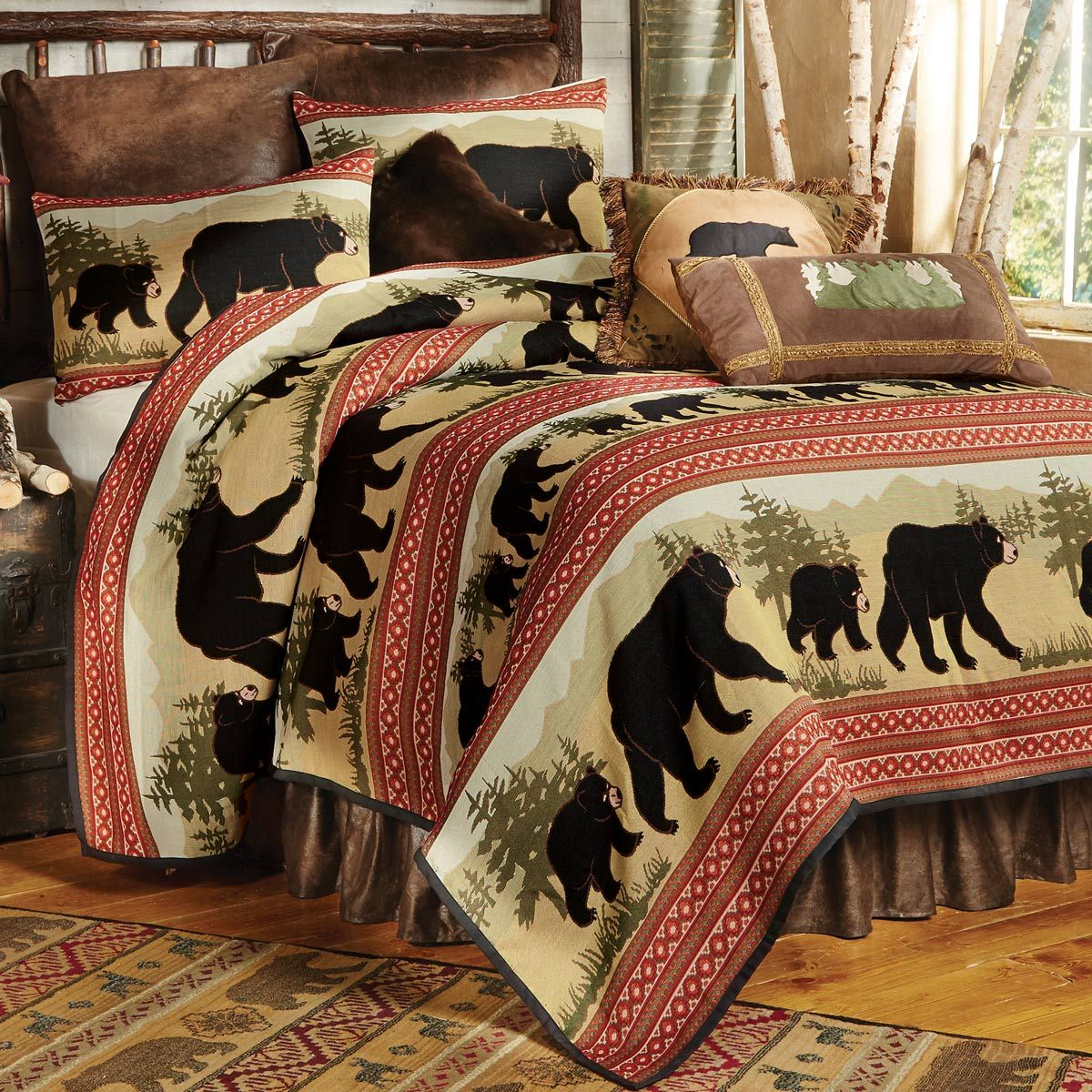best on western bedding croscill and ponderosa tracysvendsen collections images rustic bed cabin