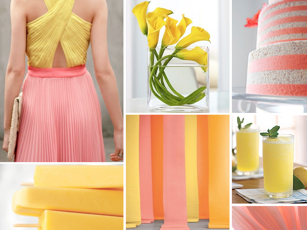 {summer brights} coral and yellow wedding