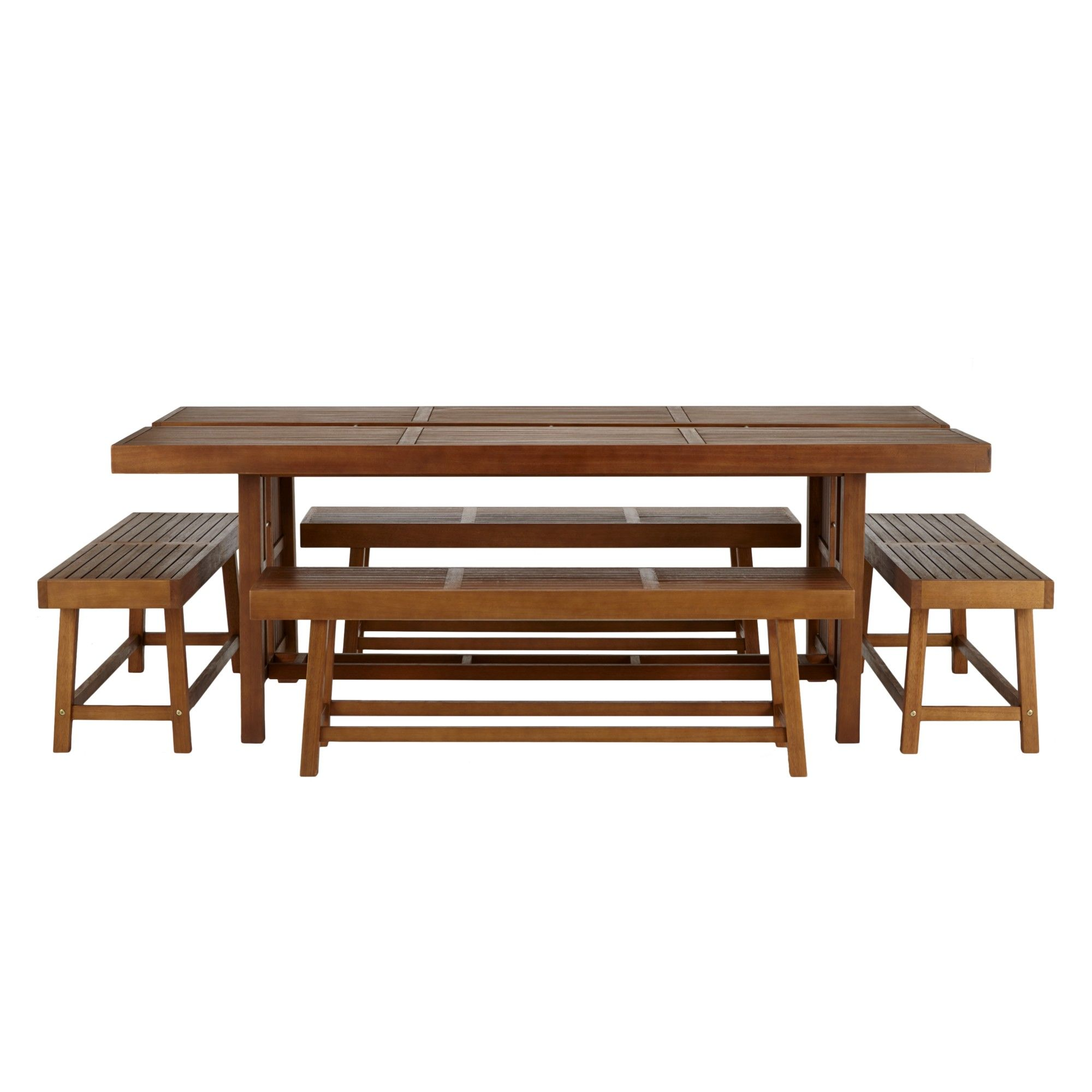 John Lewis Drift 8 Seater Outdoor Dining Table And 2 Benches FSC Certified
