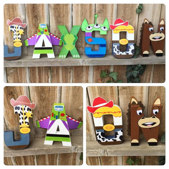 Custom Handmade Character Letter Toy Story by TheLittleThingsHouse - character letter