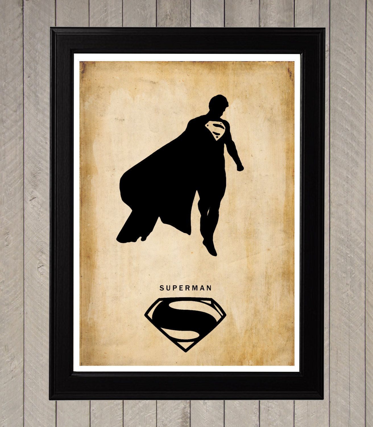 Superman Silhouette Minimalist Poster Movie Poster by CultPoster ...