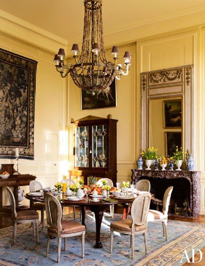 ♜ Shabby Castle Chic ♜ rich and gorgeous home decor - Timothy Corrigan's Château du Grand-Lucé
