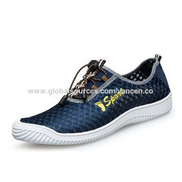 Men sports shoes with mesh upper and RB sole.OEM welcomed