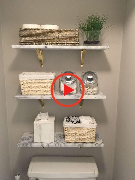 Shop Marble Wall-Mounted Shelf 24