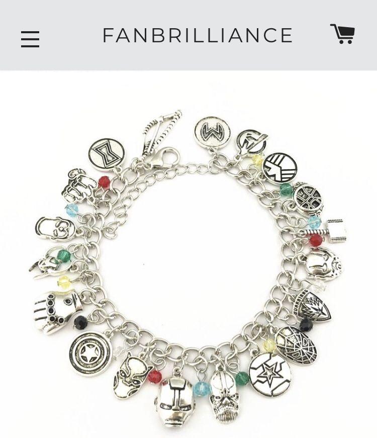 Marvel S The Avengers Silver Charm Bracelet Marvel Jewelry Pandora Jewelry Charms Silver Charm Bracelet