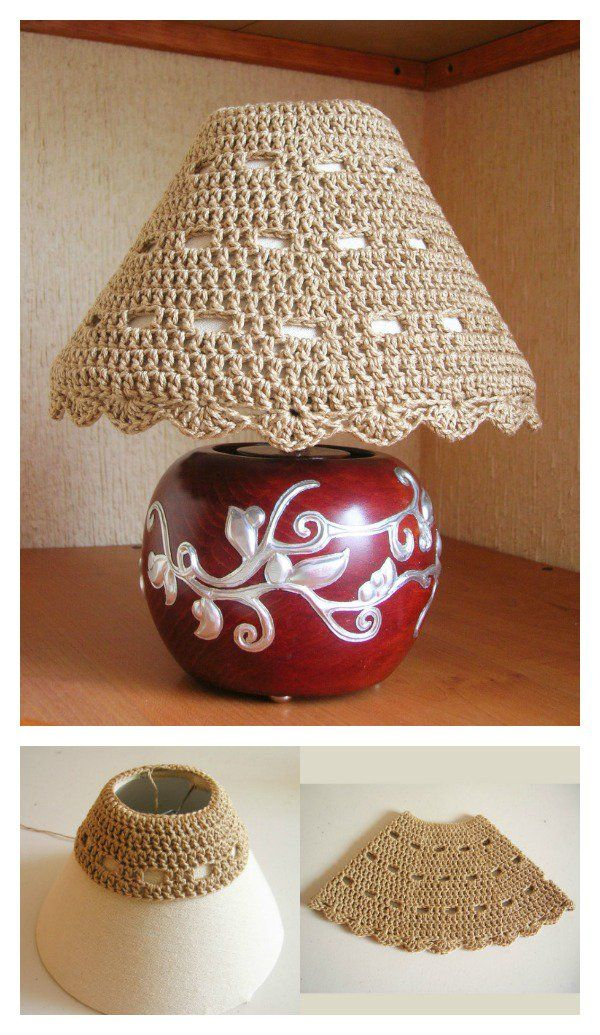Crochet Lampshade Free Patterns and Ideas | Lampenschirme ...