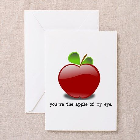 Apple of my eye greeting cards funny unique greeting cards pinterest apple of my eye greeting cards on cafepress m4hsunfo