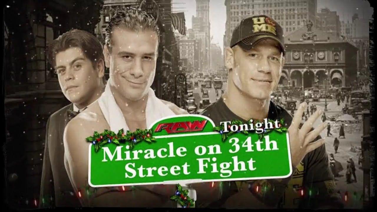 LUCHA COMPLETA: John Cena vs Alberto Del Rio Miracle on 34th Street Figh...