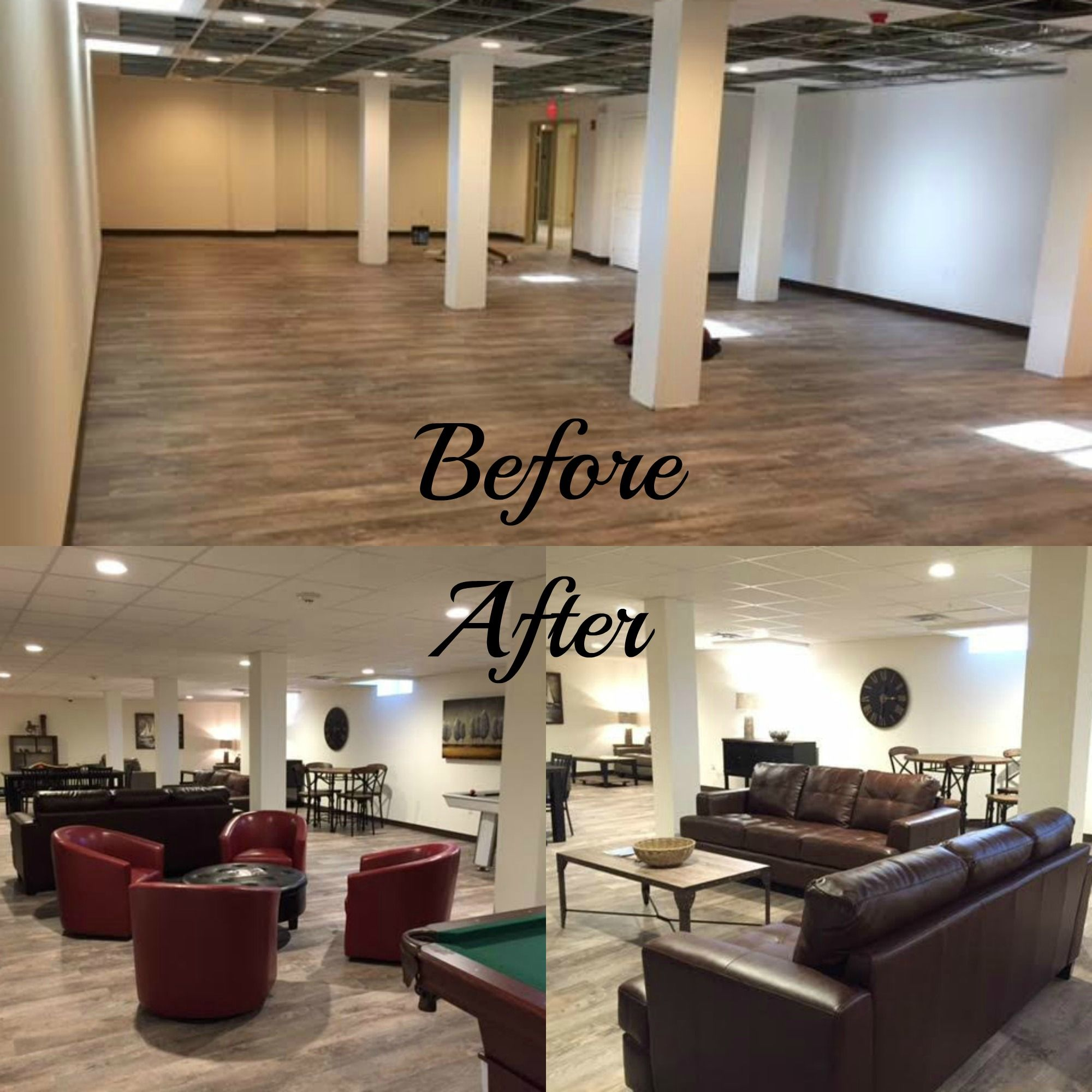 Check Out The Community Room At New Residences Lincoln Park In Dartmouth Before And After Pictures Furnished By Regal House Furniture
