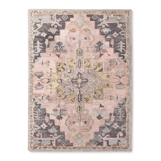 Artful Lications Of Color And Pattern Make The Vintage Rug From Threshold Look Like A Clic Well Loved Piece This Hand Tufted Area In Warm Colors