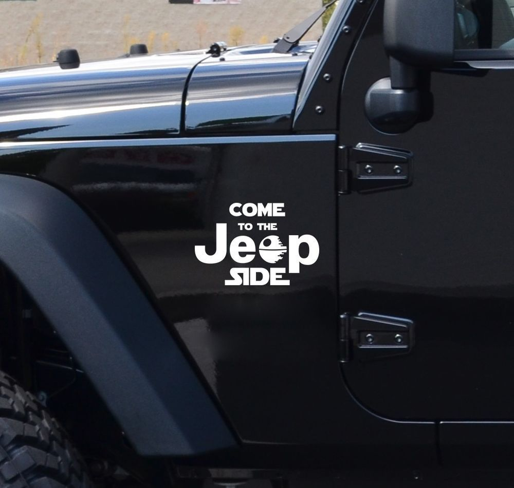 Come to the jeep side star wars dark side geek fun car vinyl sticker decal