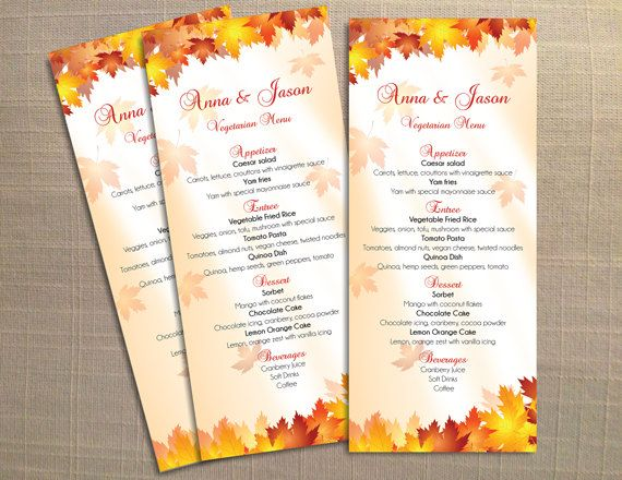 DIY Printable Wedding Menu Template Editable by WeddingCreative - free word menu template