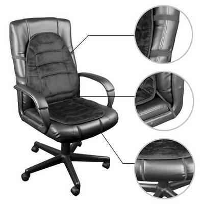 Wagan Deluxe Velour Heated Seat Cushion Products Office Chair