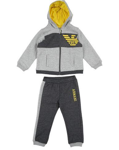 nuovo aspetto nuovo stile grande liquidazione ARMANI JUNIOR Boy's' Baby sweatsuit Grey 12 months ...