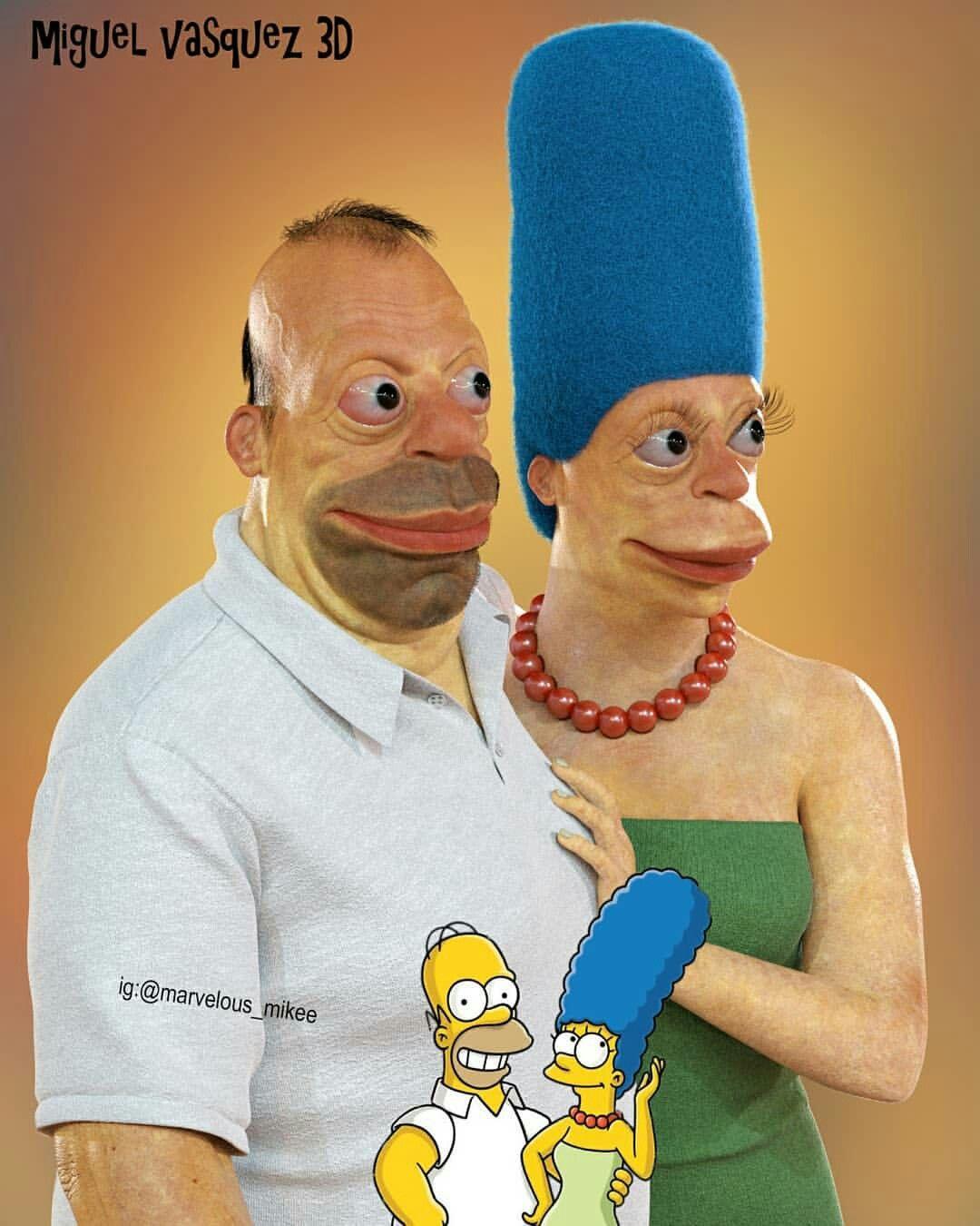 Homero Simpson Y Marge Simpson Marge Simpson Artistas Homero