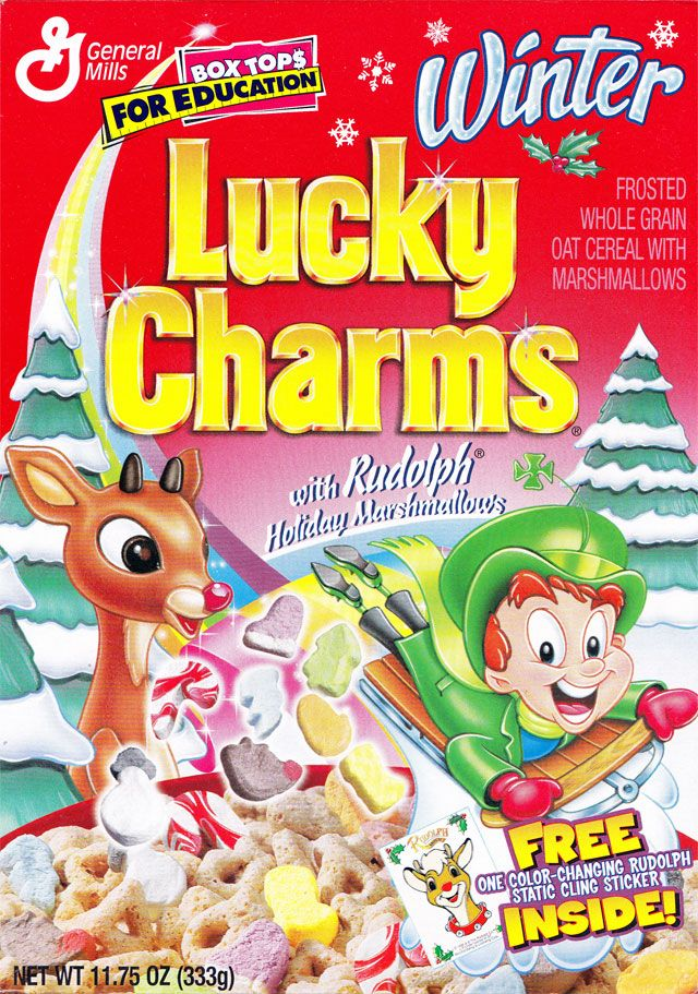 Winter Lucky Charms Cereal General Mills 1999 Cereal