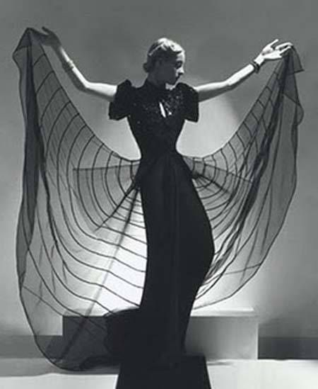 Spider dress worn by model Helen Bennett, Horst B Horst photo 1939
