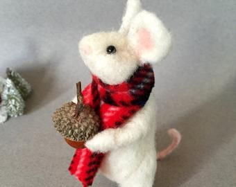 Needle felted mouse felted mouse cute mouse needle felted mice felted mice miniature mouse white mouse gray mouse mouse toy rat toy #needlefeltedbunny