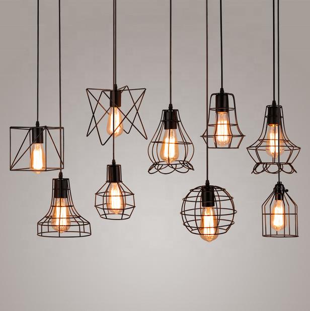 Moderne Pendant Lamp Goemetric Iron Cage Pendant Light Iron Pendant Light Cage Pendant Light