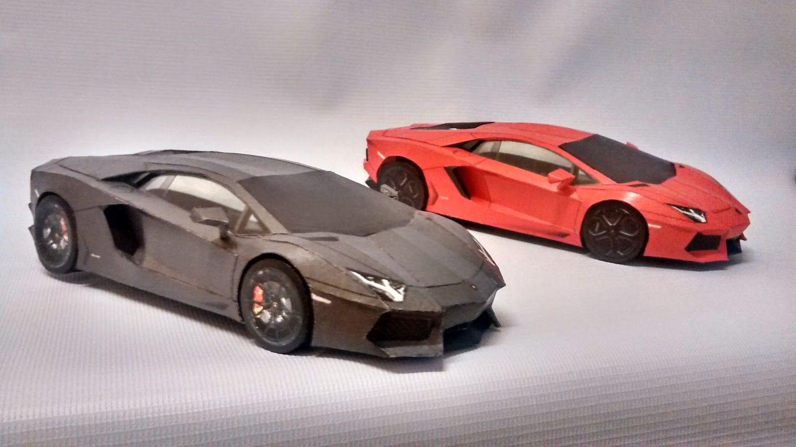 Best PaperCraft Car Template Lamborghini Aventador 3D Paper Models