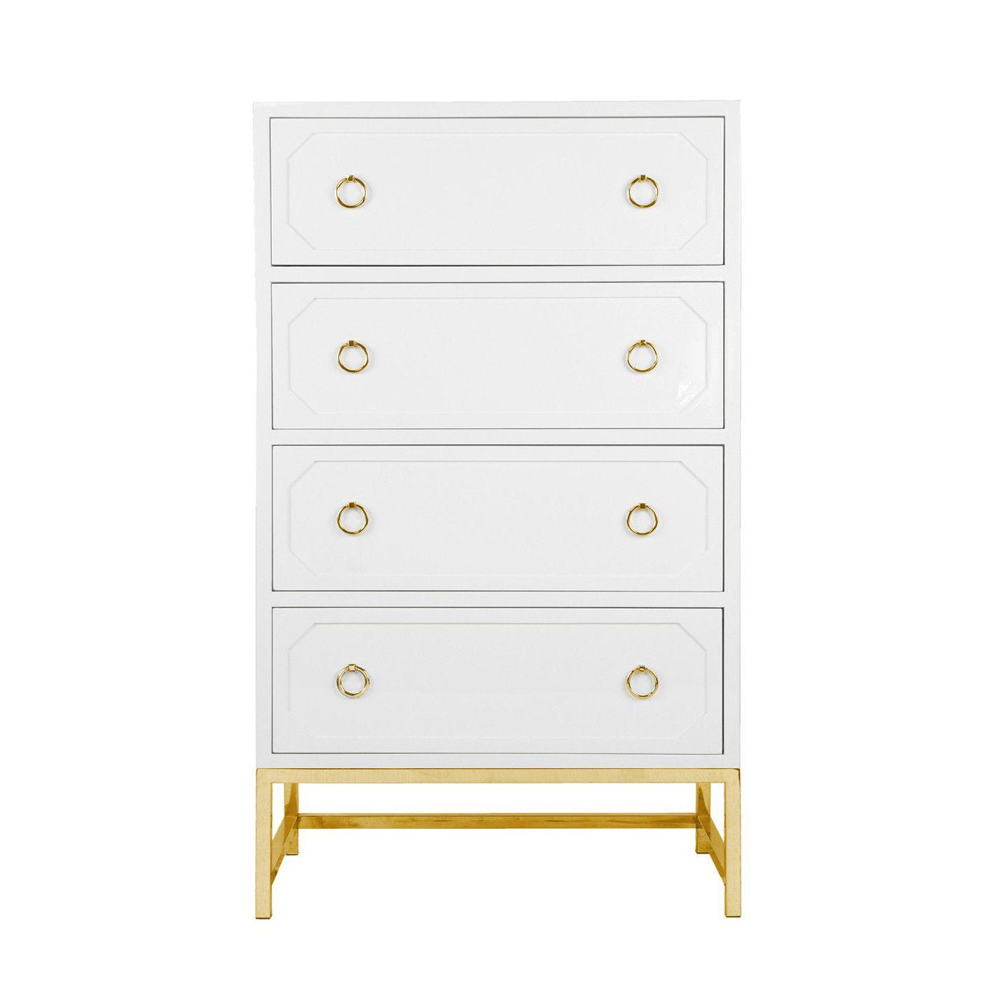 White Charlie Dresser White Lacquer Dresser Luxury Bedroom