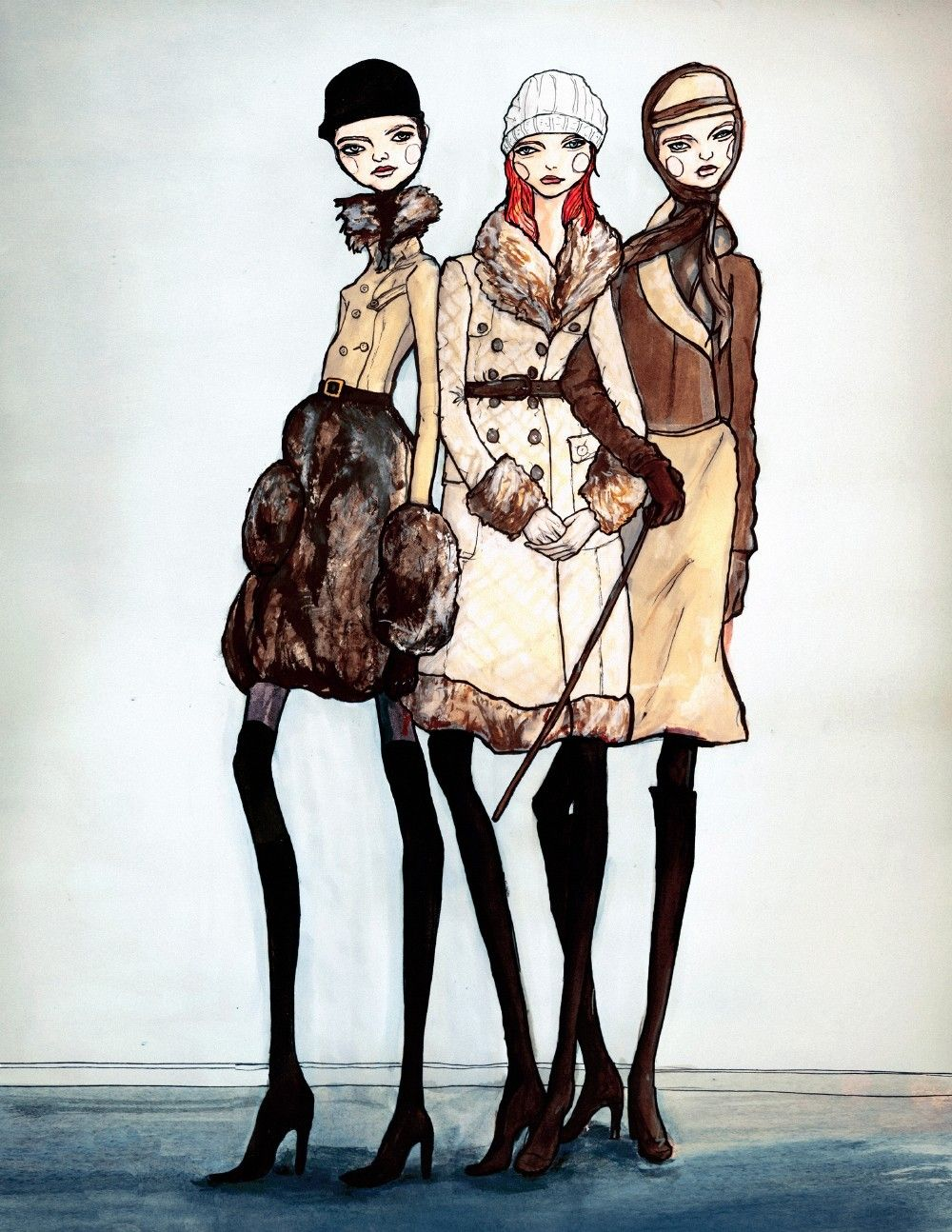 Girls in Coats by Danny Roberts, via Etsy.