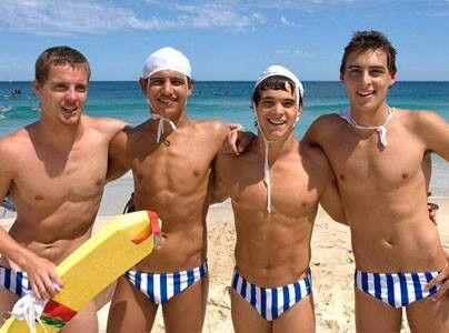 Four Speedo Beach Boys