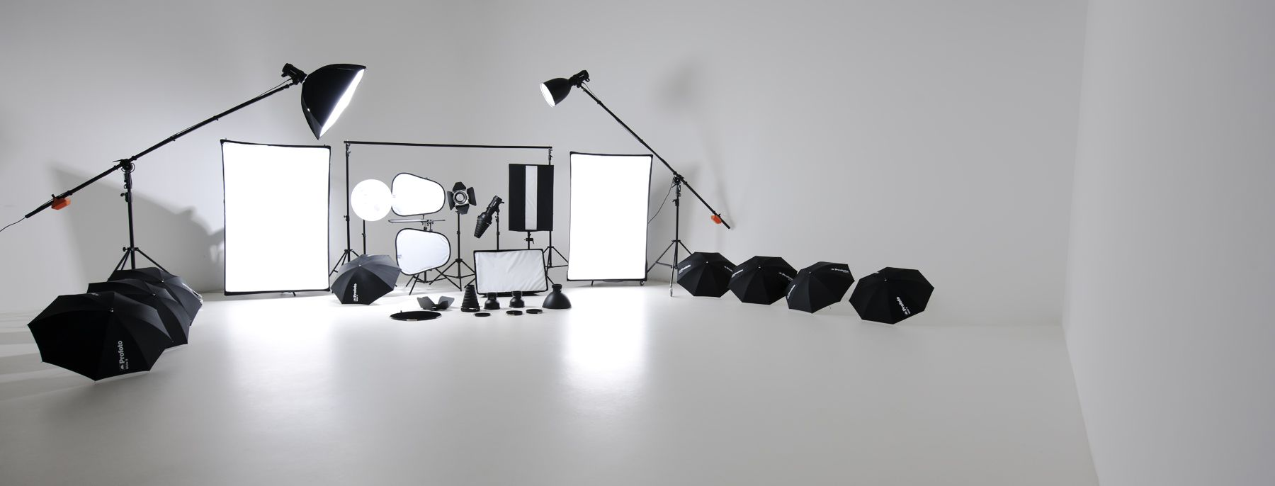 studio with photo stock picture and photography setup lighting equipment