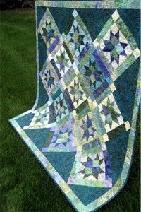 Stars on Point.  Beautiful quilt!