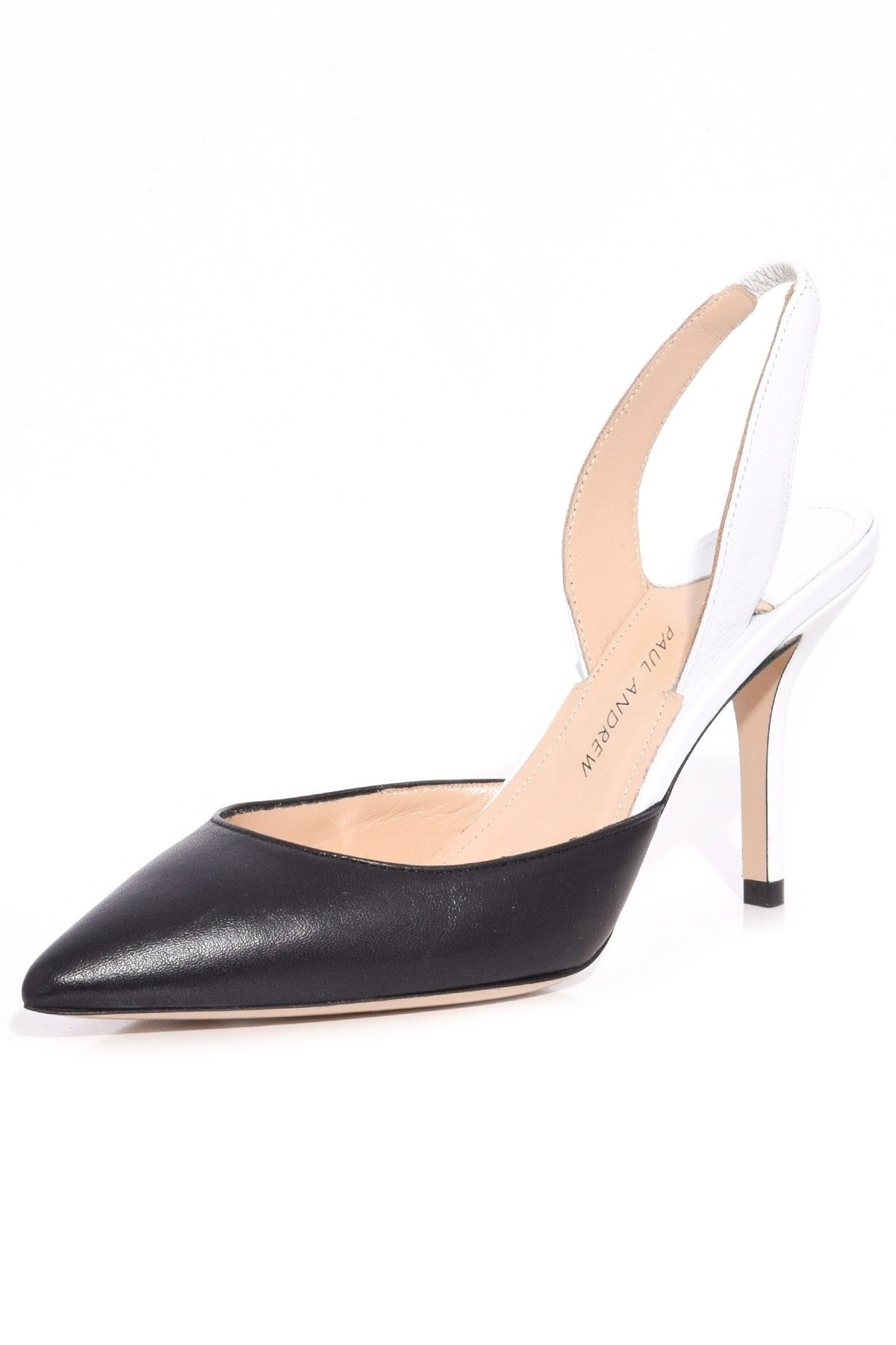 5f44a3b43b7 Paul Andrew AW Slingback Pump in Black White
