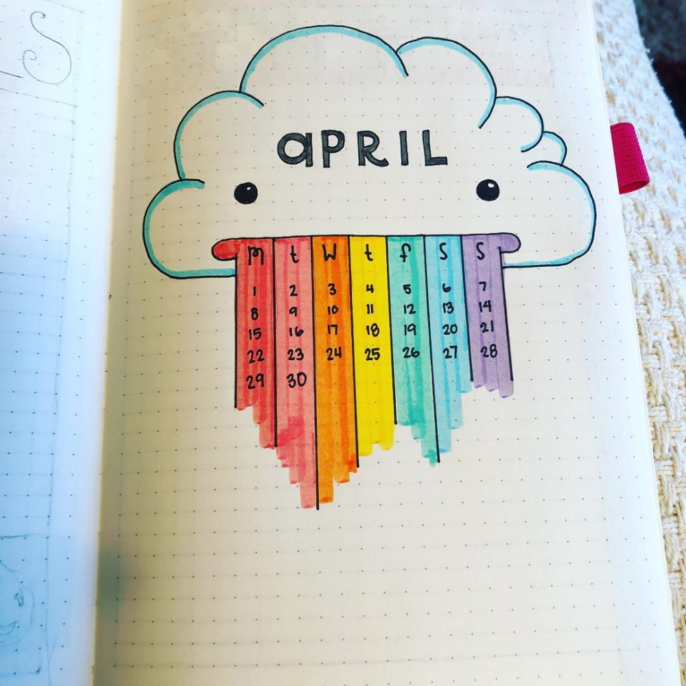 "Jessi P on Instagram: ""Ready for April? I am���� Also ready for some spring cleaning� Video link in my bio. This month was inspired by @mashaplans #bujo…"""