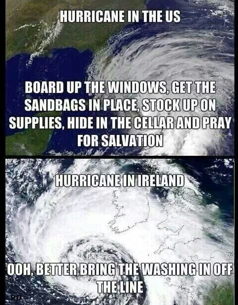 It's just a storm not a hurricane.  Still that is the attitude.