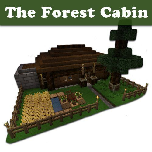minecraft building designs the forest cabin step by step