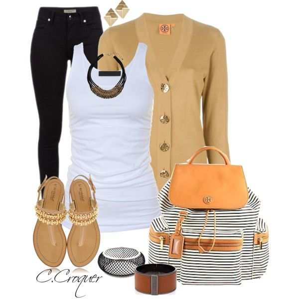 Jeans+Tank+Flats, created by ccroquer on Polyvore