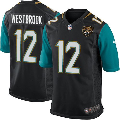 Men's Nike Jacksonville Jaguars #12 Dede Westbrook Game Black Alternate NFL Jersey