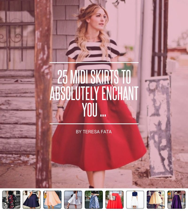 25 Midi #Skirts to #Absolutely Enchant You ... - #Fashion