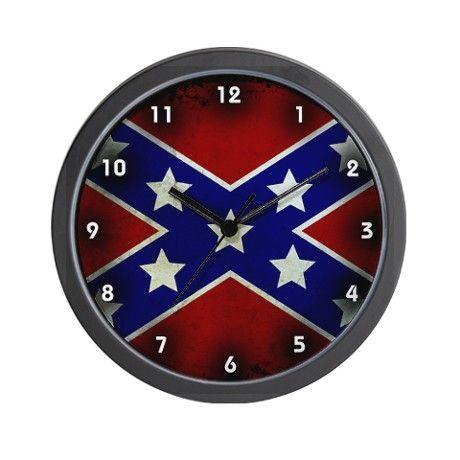 Grunge Confederate Flag Wall Clock Nsmye Ye Sya Confederate Flag Civil War Flags Southern Pride