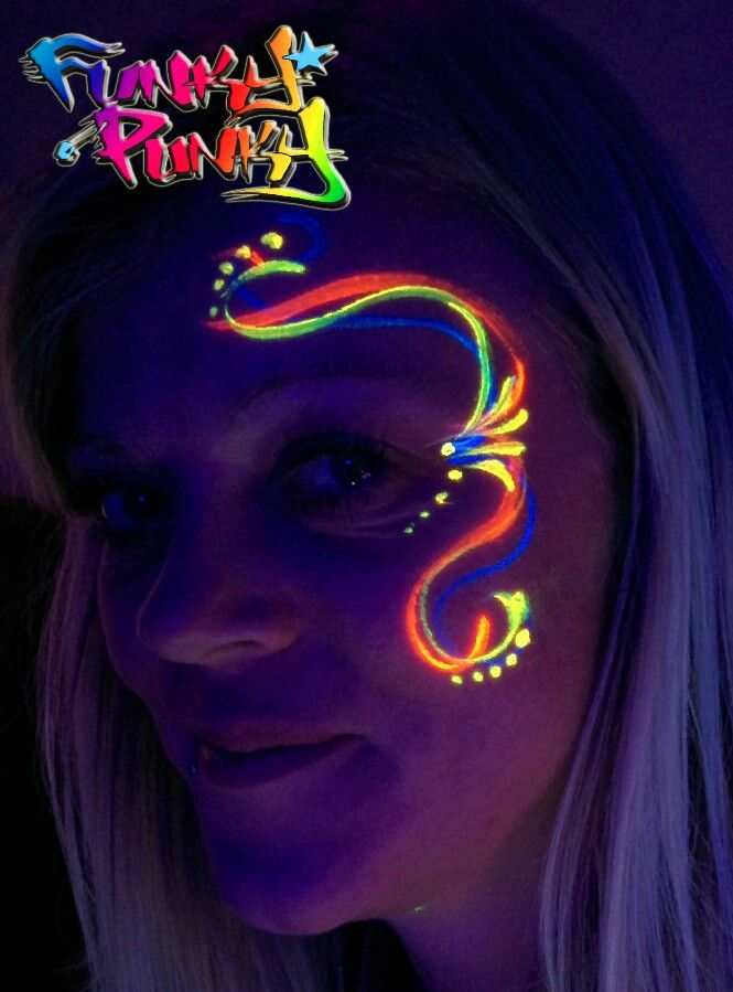 uv face paint by cher funky punky ricard pinteres. Black Bedroom Furniture Sets. Home Design Ideas