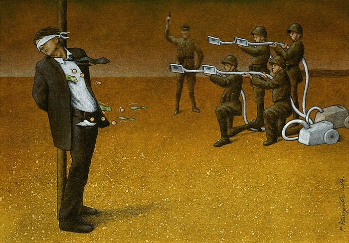 ThoughtProvoking Satirical Illustrations By Pawel Kuczynski - 16 satirical illustrations that offer a witty outlook on modern life