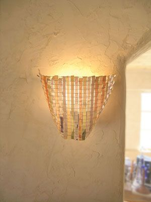 Try this woven lamp shade tutorials diy ideas and diy light try this woven lamp shade wire meshdiy greentooth Images