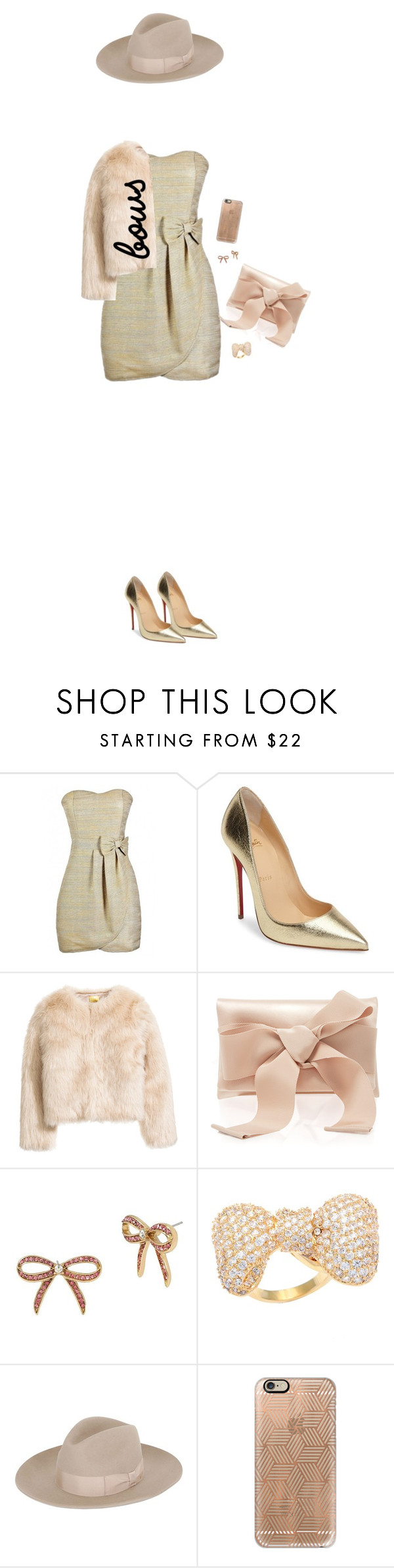 """Senza titolo #5593"" by waikiki24 ❤ liked on Polyvore featuring Christian Louboutin, Oscar de la Renta, Betsey Johnson, Kate Bissett, Super Duper and Casetify"