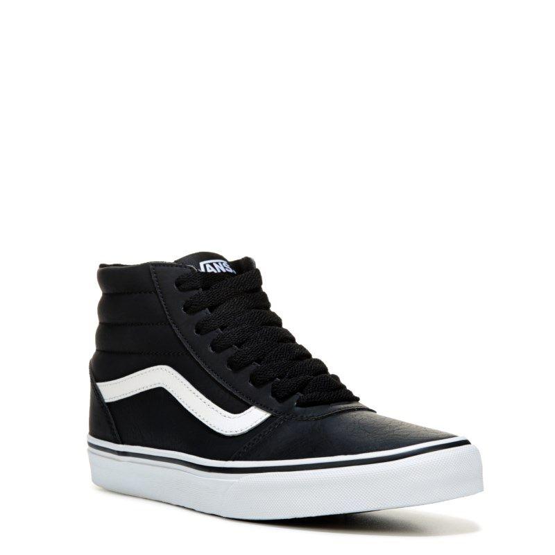 06503dd6556133 Vans Men s Ward High Top Leather Sneakers (Black White) - 10.0 M