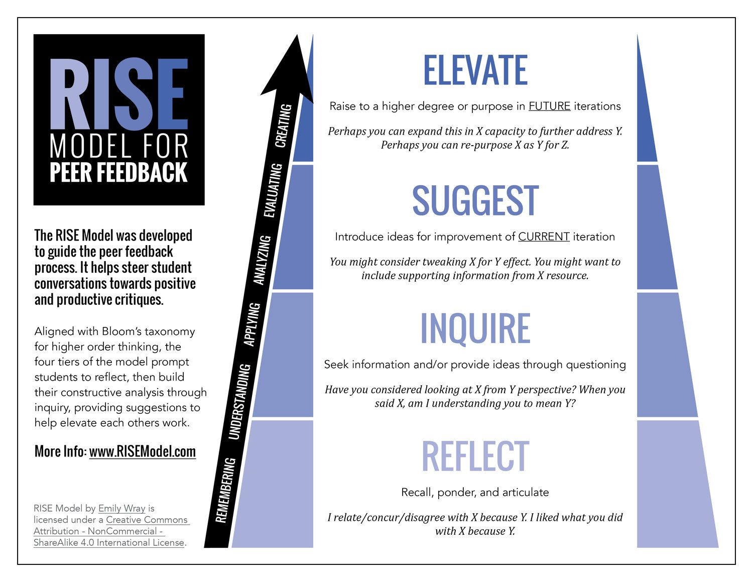 Rise Model For Peer Feedback Infographic