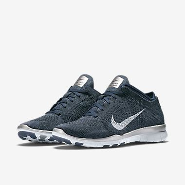 7e206305773 Nike Free TR 5 Flyknit Blue Metallic Women s Training Shoe £110 ...