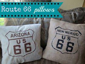 Cut Craft Create Route 66 Pillows & Cut Craft Create: Route 66 Pillows | Route 66 decor ideas ...