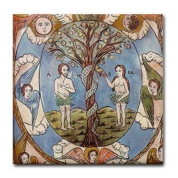 Folk Art Paintings Adam And Eve