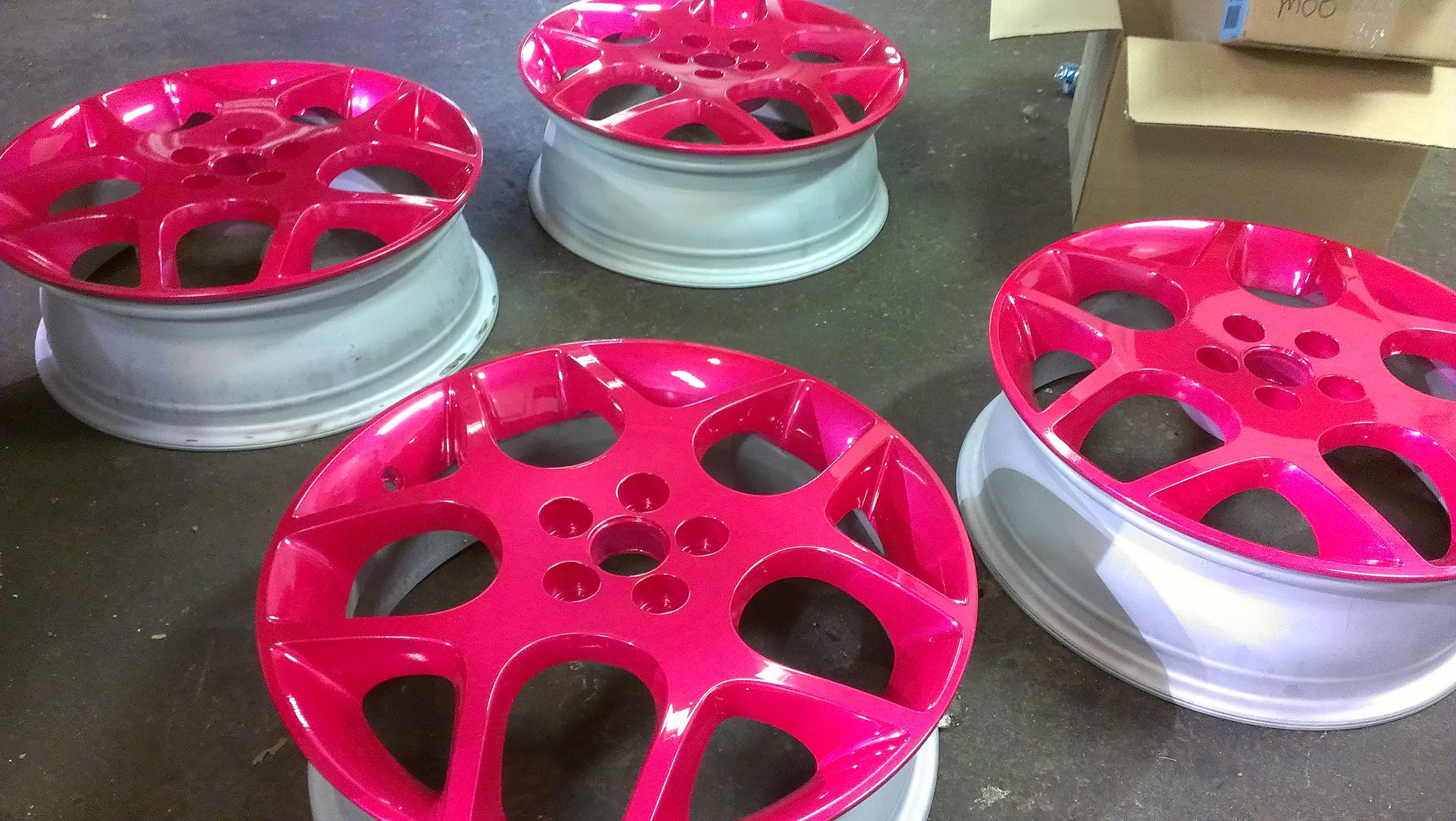 the pink wheels that will be on my srt soon srt  the pink wheels that will be on my srt soon