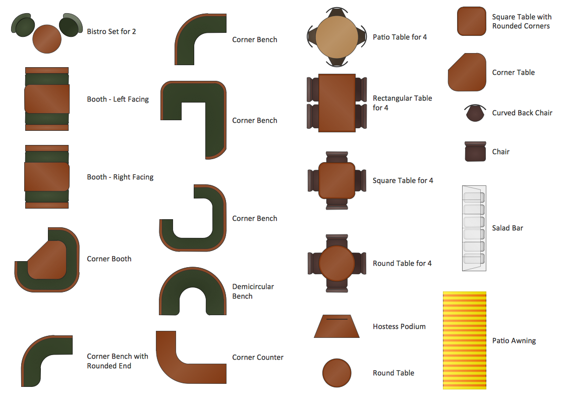 Restaurant floor plans software design your restaurant for Table layout design