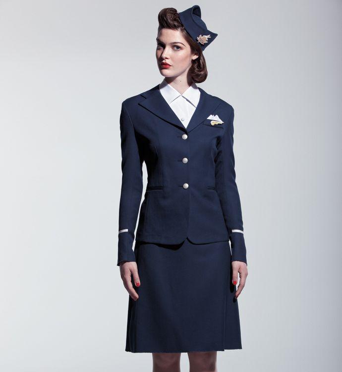 l uniforme ac 1941 p n c costume h tesse de l air. Black Bedroom Furniture Sets. Home Design Ideas