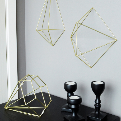 Umbra Wall Decor umbra prisma matte brass wall decor | umbra prisma wall decor
